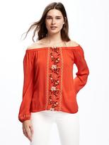 Old Navy Embroidered Swing Top for Women