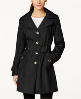 Calvin Klein Petite Hooded Single-Breasted Trench Coat, Only at Macy's