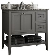 """CNC Costume National Cabinetry Vanguard 36"""" Right Drawer Single Bathroom Vanity Base Only Cabinetry Base Finish: Dove Gray"""