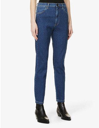 3x1 Faded skinny-fit tapered high-rise jeans