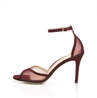 Marion Parke Lolita | Mesh Stiletto Sandal With Ankle Strap