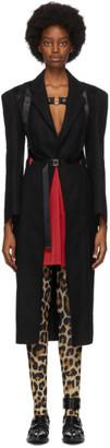 Junya Watanabe Black Wool Harness Coat