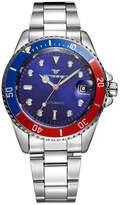 FNGEEN Men's Mechanical Luminous Wrist Watch Sport Watch Stainless Steel Band