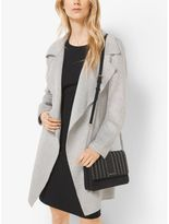 Michael Kors Belted Double-Face Wool Wrap Coat