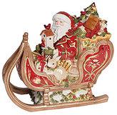 Fitz & Floyd Damask Holiday Santa & His Sleigh Cookie Jar