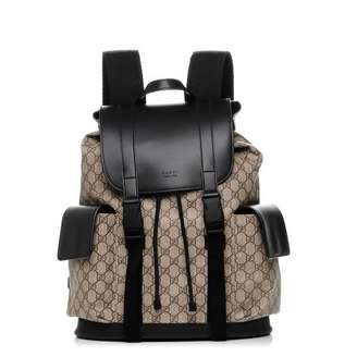 Gucci Soft Backpack Monogram GG Black/Brown