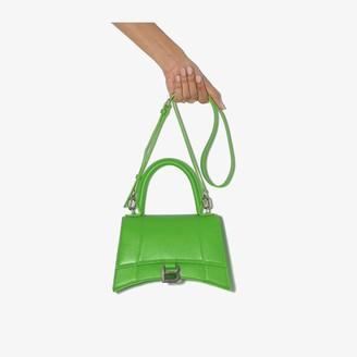 Balenciaga green Hourglass leather shoulder bag