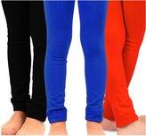 TeeHee Kids Girls Fleece Inner Brushed Thermal Leggings 3 Pack