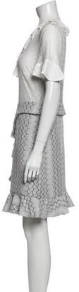Three floor Printed Mini Dress w/ Tags White