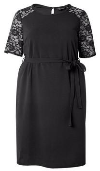 Dorothy Perkins Womens **Dp Curve Black Belted Shift Dress, Black