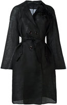 Ermanno Scervino belted coat - women - Silk - 46