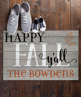 'Happy Fall Y'all' Personalized Doormat
