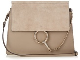 Chloé Faye medium suede and leather shoulder bag