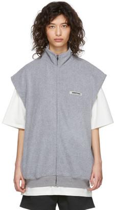 Essentials Grey Polar Fleece Vest