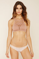 Forever 21 FOREVER 21+ Stripe Lace-Trim Thong