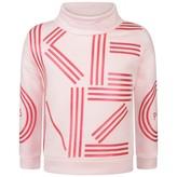 Kenzo KidsGirls Pink Logo Print Sweater
