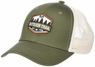 Concept One Men's Outdoor Trail Embroidered Patch Slightly Curved Uncle Cap Trucker