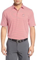 Peter Millar Men's 'Competition - Ohio State University' Stripe Stretch Microfiber Golf Polo
