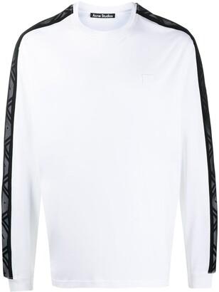 Acne Studios logo-stripe longsleeve T-shirt