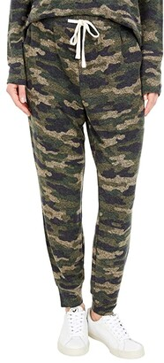 Lucky Brand Printed Brushed Hacci Joggers (Camoflage) Women's Casual Pants