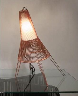 """Schema A Cote Desk Lamp Oggetti Base Color: Copper, Size: 16"""" H x 12.5"""" W x 11.5"""" D"""