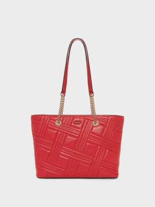 DKNY Women's Allen Medium Chain Tote - Rouge - Size N/S