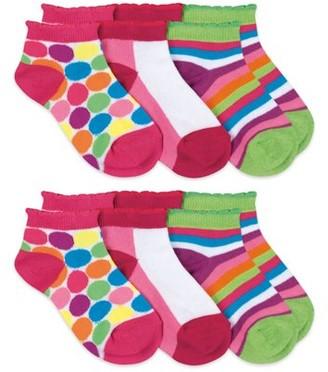 Jefferies Socks Girls Low Cut Socks 6-Pack, Size M