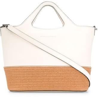 Brunello Cucinelli Straw Trim Tote Bag
