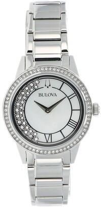 Bulova Women's TurnStyle Crystal Bracelet Watch, 32mm