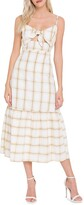 Thumbnail for your product : ENGLISH FACTORY Check-Print Front-Tie Maxi Dress