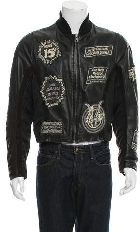 Dirk Bikkembergs Patchwork Leather Jacket