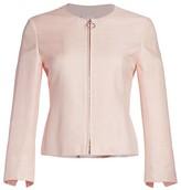 Akris Punto Back Peplum Silk Jacket