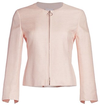 Akris Punto Back Peplum Silk Jacket