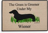 "Bed Bath & Beyond ""The Grass Is Greener Under My Wiener"" Door Mat"