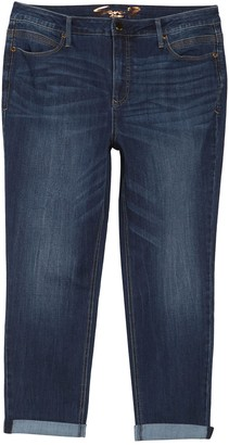 Seven7 High Rise Tummyless Rolled Slim Fit Jeans (Plus Size)