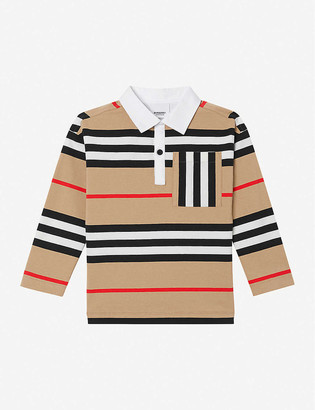 Burberry Cuthbert long-sleeved striped cotton top 3-14 years