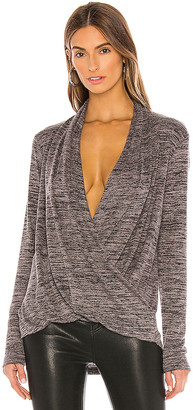 Bobi Heathered Sweater Knit Blouse
