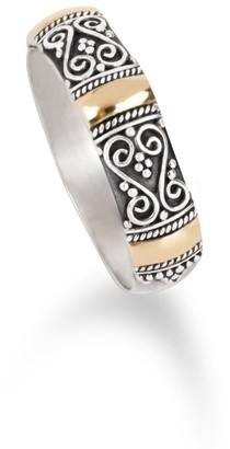 Aquila Jewellery Handcrafted Silver Ring Gilded With 18K Gold - Ubud