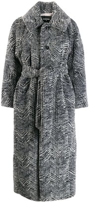 DSQUARED2 Mid-Length Belted Coat