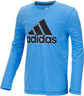 adidas ClimaLite Flame Logo Graphic-Print Shirt, Big Boys (8-20)