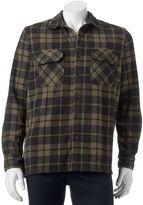 Croft & Barrow Men's Classic-Fit Plaid Arctic Fleece Shirt Jacket