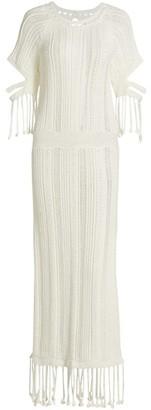 Jonathan Simkhai Emeri Chunky Fringe Dress