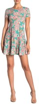 BeBop Floral Printed Tiered Knit Mini Dress