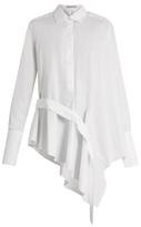 Palmer Harding PALMER//HARDING Ruffle-front cotton-blend shirt