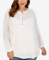 Lucky Brand Trendy Plus Size Lace Blouse