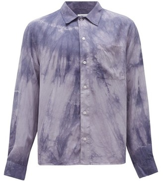 Saturdays NYC Christopher Tie-dye Mineral-washed Tencel Shirt - Mens - Grey