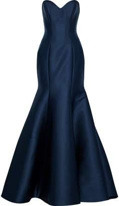 Monique Lhuillier Strapless Silk-duchesse Satin Gown