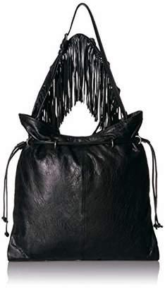 Frye Sacha Small Leather Fringe Hobo