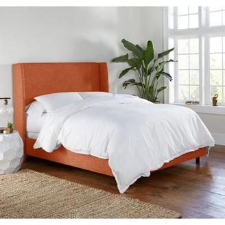 Mercury Row Alrai Upholstered Low Profile Standard Bed Color: Zuma Atomic, Size: California King