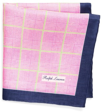 Ralph Lauren Glen Plaid Linen Pocket Square
